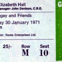 Ticket for Fotheringay's final concert (thanks to Cliff Baughen)