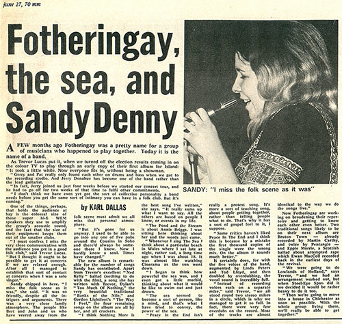 Fotheringay, the Sea and Sandy Denny