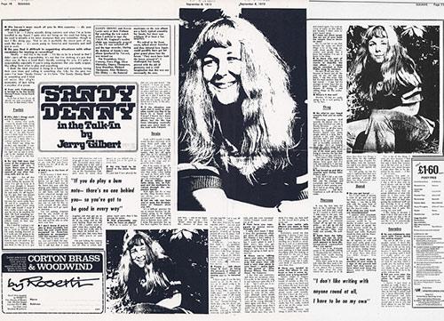 Sandy Denny in the Talk-In